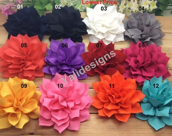 12PCS- Wholesale 3.3'' inch Flower Brooch/Flower Headdress Fabric Flower For Pin and Headband YTA32 -Mixture Color U Pick!