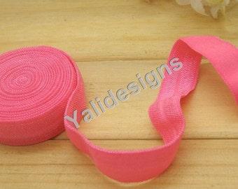 10 Yards 3/8''  Rose Elastic Headband Baby Hairbow Soft Foldover Elastic Binding Webbing Tape Craft Sewing  - YTA13