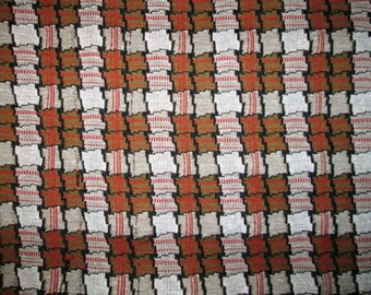 "Autumn Colors Plaid Fabric -  1' 30"" long; 32"" wide"