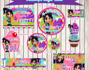 VANELLOPE Sugar Rush Personalized Birthday Party , Vanellope Party