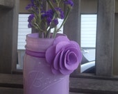 Lavender Painted Mason Jar