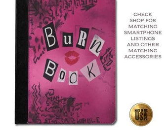 Mean Girls inspired burn book cover handbook protective tablet case (ipad 2 3 4, air, mini, Kindle Fire, paperwhite)