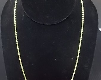 Vintage Estate14K Yellow Gold Rope Necklace 9.82g #E819