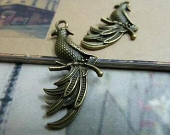 20pcs  Antique Bronze Lovely Phoenix Charms Pendant. c1806-6