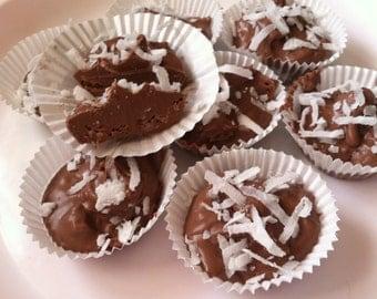 Coconut & Milk Chocolate Clusters Cup-1 Dozen