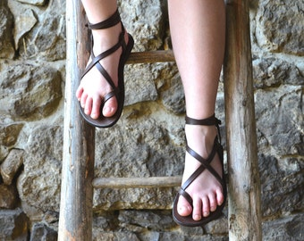 Sale 15 % ! Women's sandals, Brown leather, barefoot sandals, platform sandals, women, strap sandals, adjustable sandals, comfort sandals
