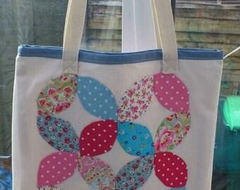 Handmade Applique Tote bag