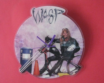 "w.a.s.p  mean man 7""  picture disc clock"