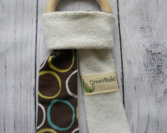 Organic Bopsy Ears Maple Teething Ring Eco Baby Toy Bamboo Cotton