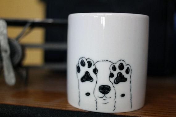 Tassen Hund : Hand bemalt tierische becher niedlichen von creativestonecera