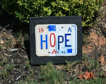 License Plate Art / Signs -  Phrases, Quotes, Names (1-5 Letters or Numbers)