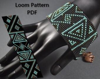 Beading Pattern Loom Pattern Tutorial Abstrakcja PDF