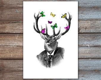 Deer Wall Decor deer wall decor | etsy