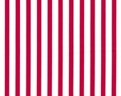 "Stripes RED 100% Cotton Poplin ~ 44"" Wide ~ Sold by the Yard"