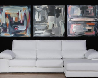 """60""""Extra Large  in 3 Original Oil Painting by Elah Gabriel, quality color art, 2014/15 Collection, artistic painting"""