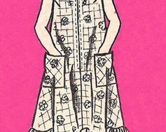 Mail Order 4672 Ruffled Bottomed Dress 1970's / SZ10 UNCUT