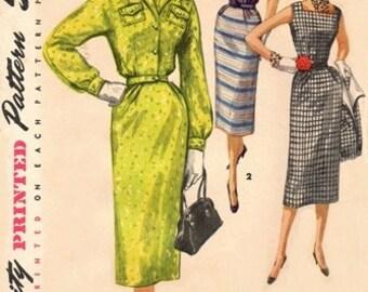 Simplicity 1036 Bella Dress & Jumper With Jacket / ca. 1955 / SZ12 COMPLETE