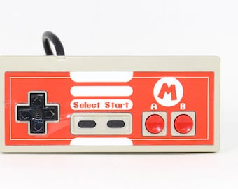 Red Glossy Mario NES Controller Custom Cover - COVER ONLY (controller not included)