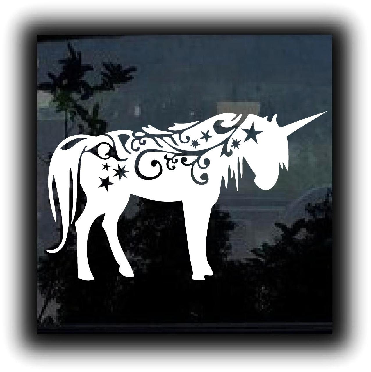 "Unicorn Fantasy Horse Custom Decal Sticker 5.5"" Inch"