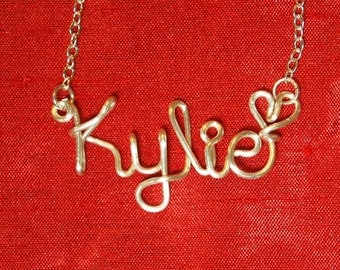 Personalized wedding jewelery,Kylie necklace,Name Necklaces,Birthday gift,Bridesmaid necklace,Custom Name necklace