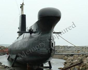 Submarine Fine Art Photography, Digital Download, Nautical  Industrial Urban Decor, HMCS Onondaga Canada