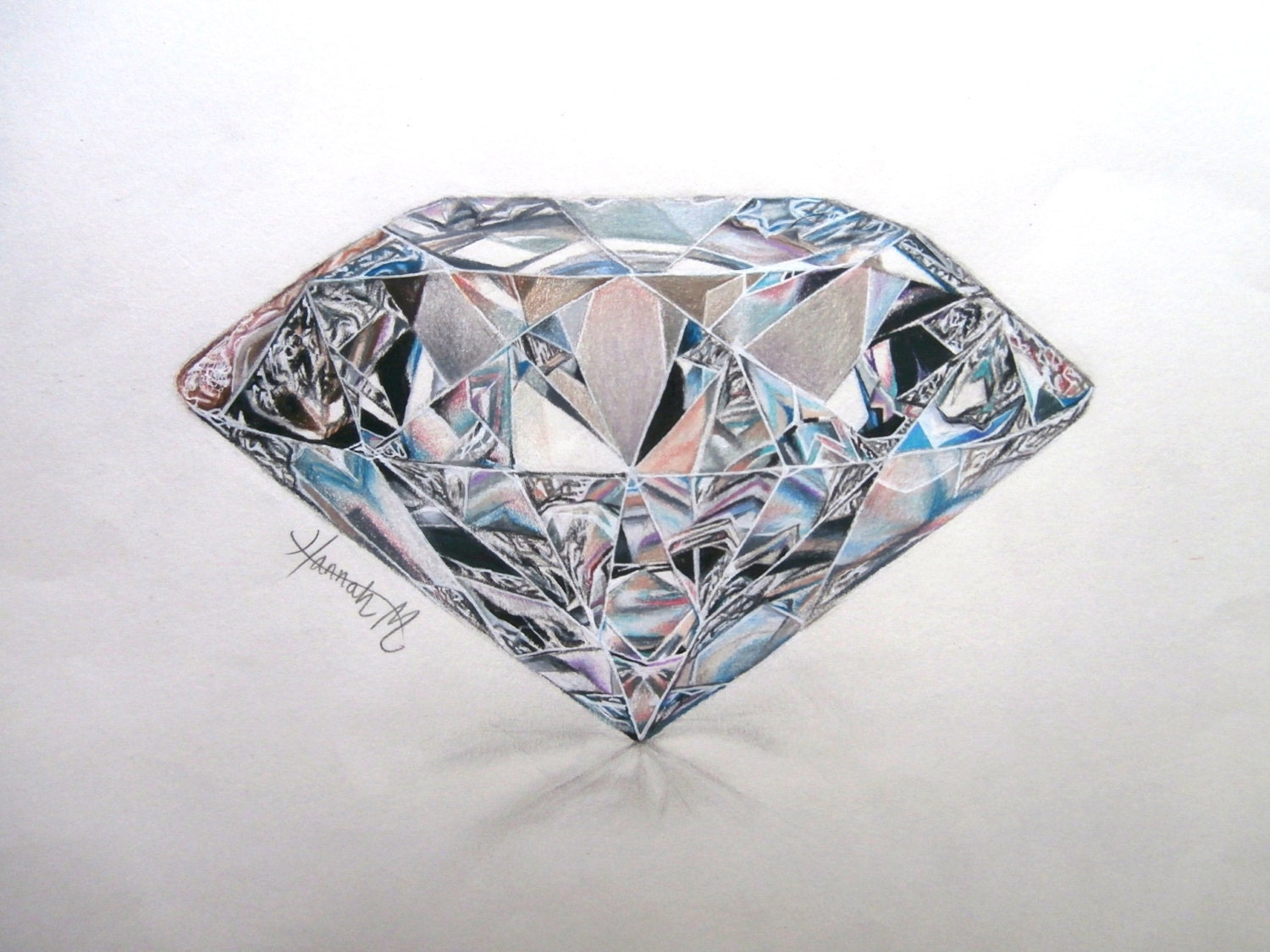 diamond pencil sketch - photo #1