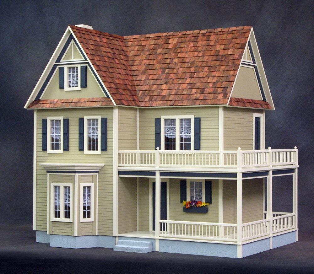 Victoria 39 s farmhouse dollhouse real good toys for Farmhouse kit homes