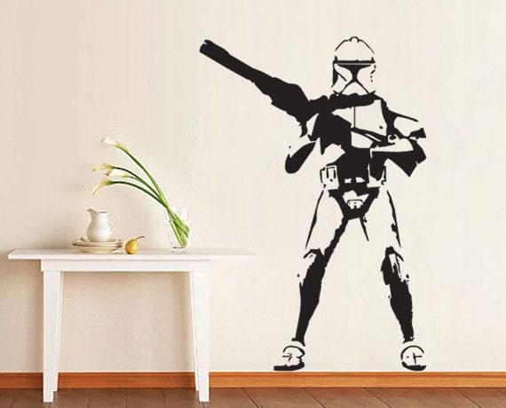 star wars stormtrooper art wall vinyl decal wd0006 by srisupa. Black Bedroom Furniture Sets. Home Design Ideas