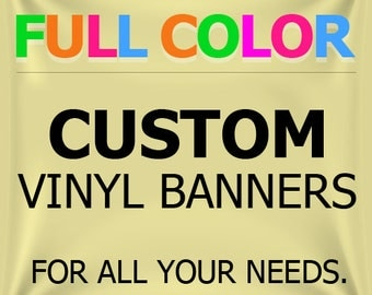 BannerBuzz Custom Vinyl Banner Custom Banner Vinyl Banner Company School Retail Banner with True Solvent Ink Signs And Grommets, 3'x7'
