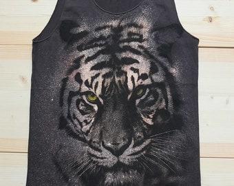 Tiger Animal Punk Rock Fashion T-Shirt Vest Tank Top