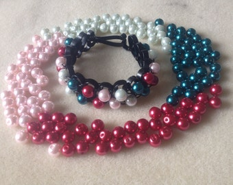 Flat Wire Bracelet with Pearl Beads