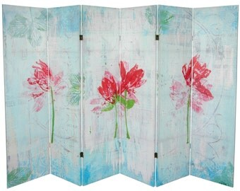 Canvas Room Divider Screen Spring Morning Partition
