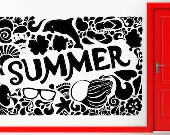 Wall Stickers Vinyl Decal Summer Vacation Ocean Beach Decor (z1852)
