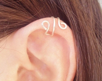 Upper Cartilage Swirl Ear Cuff, Ear Cuff