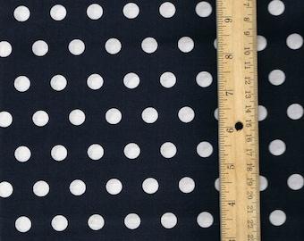 Navy Polka Dot Fabric,  Fabric by the Yard, Fall Fabric, sewing fabric