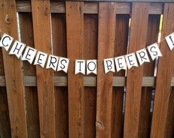 Cheers to Beers- Bar Banner- Paper Pennant Banner