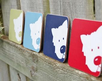 Peek A Boo Dog Coaster