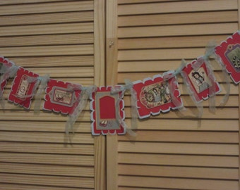 Wizard of Oz Altered Banner, Hand Made Banner, Party Banner