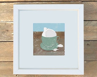 Dove in a Cup Print