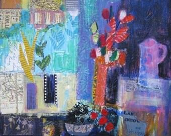 Fine Art Card Still Life with Window
