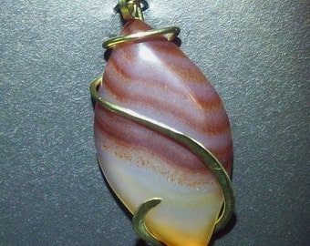 Agate Cold Forged Pendant