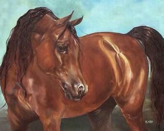 Equine Art.  Commissioned portrait of horse.