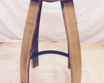 Wine Barrel Pub Stool