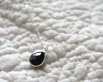 Black Onyx Necklace / Black Gemstone Necklace / Gift