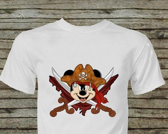 Mickey Mouse Pirate Iron On Transfer Instant Download