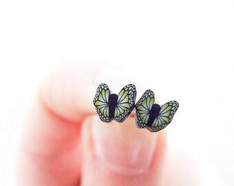 Black Butterfly Earrings, Little Butterflies Studs, Summer Post Earrings