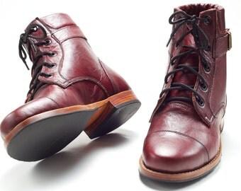 Quiché. Lace-up Ankle Boots.