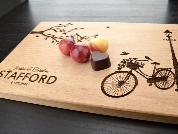 Personalized Wedding Gifts Kitchen : Personalized Wedding Gift, Custom Cutting Board, Anniversary Gift ...
