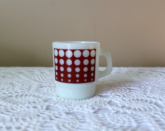 Rare Anchor Hocking/Fire King Dots Mug