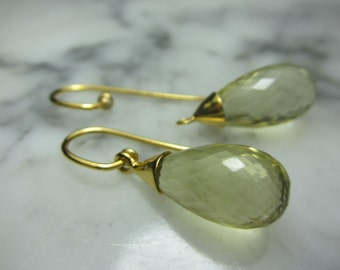 Briolette Pendant Amethyst Mix & Match Earrings faceted lemon quartz earrings